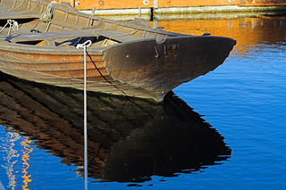 Wooden Boat Reflection