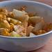 Pear corn chaat