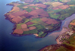 patchwork fields - fountainstown beach and the minane river (silyld) Tags: ireland irish beach 1025fav river flying cove cork fromabove estuary fields roberts ryanair patchwork airborne aerialphotography fromtheair cocork corcaigh fountainstown robertscove minane