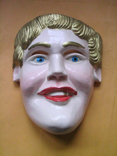 xxx blonde mask mask of a blonde woman carved in the Purepecha community of ...