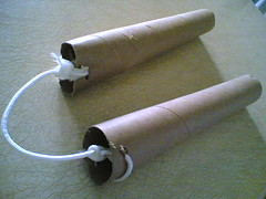 make tubes cardboard nunchucks