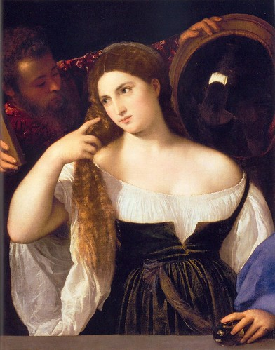 Titian, Young Woman Combing Her Hair, 1514