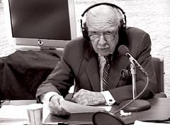 Walter Cronkite recording narration. (CBS- February, 2005) (Chris Seufert) Tags: new york chris death manhattan films documentary passing obituary cbs marconi waltercronkite guglielmo mooncusser seufert