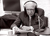 Walter Cronkite recording narration. (CBS- February, 2005) (Chris Seufert) Tags: new york chris death manhattan films documentary passing obituary cbs marconi waltercronkite guglielmo mooncusser seufert