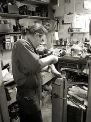 Shaping a last (Trevor Hare) Tags: england london shop shoes iso400 workshop craftsman grdigital trade ricoh pointshoot shoemaker stjames skill bespoke stjamess johnlobb