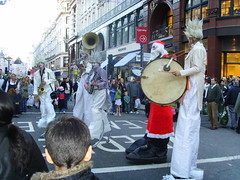 Santa & the Band (sanja.hr) Tags: street london closed regent
