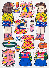 Japanese Cut Out Dressing Dolls (peppermint kiss kiss) Tags: japan vintage 1950s paperdolls kiichitsutaya