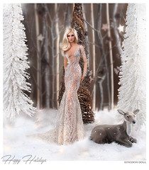 Happy Holiday Couture to you! <3 (kingdomdoll) Tags: hautecouture seren kingdomdoll kingdom beauty glamour resinfashiondoll resin happy holidays fashiondoll doll couture
