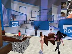Second Life BB 37 (Gary Hayes) Tags: secondlife bigbrother housemates xmastree challenges endemol muve environmentdesign virtualrealitytv tvformat