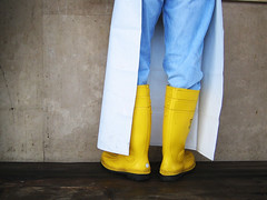 yellow wellies (miss_kcc) Tags: italy yellow boots wellington wellies fishmarket bari top20feet