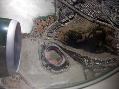 Frontier Airlines / Candlestick Park , San Francisco. () Tags: sf sanfrancisco parque vacation window plane canon airplane fly inflight football highway stadium altitude flight jet thecity 49ers aerial 101 estadio freeway jetengine bayview praa windowview digitalcamera stadion parc aereo hwy101 stade highway101 candlestick airliner avion hwy1 windowseat us101 sfist niners digitalelf sanfranciscogiants candlestickpark passtime a319  sf49ers areo footballstadium saofrancisco monsterpark frontierairlines visitacionvalley 9ers  stadiwm  insidetheplane  thestick  freeway101 cabininterior ario ftbolamericano  interiorcabin sd450is bayviewheights  inthecabin  powershotsd450is
