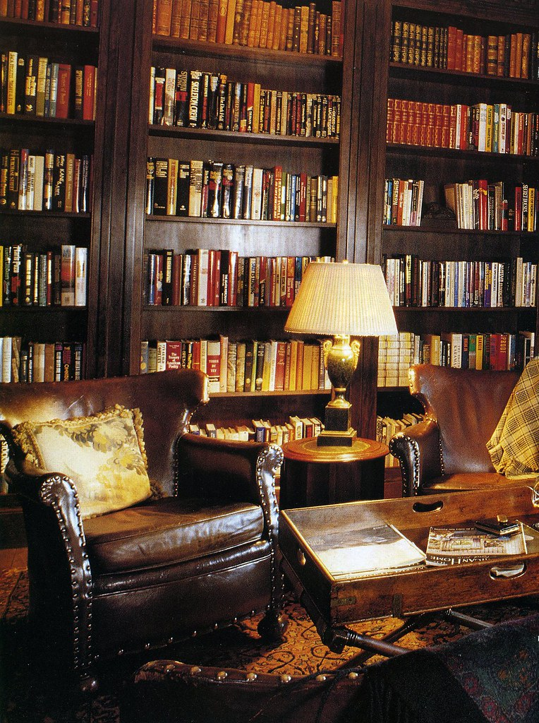 House Study Room: The Steampunk Home: Brown And Gold Library