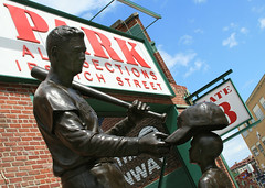 Teddy Ballgame (richietown) Tags: topv111 baseball redsox fenway fenwaypark 28135mm bostonredsox tedwilliams yawkeyway teddyballgame tedwilliamsstatue richietown