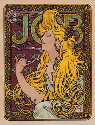 Alphonse Mucha, Papier a Cigarettes Job ad, 1896 d