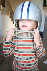 Oscar and his football helmet