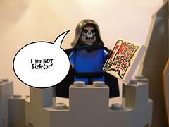 Justice League Museum Vignette - Doctor Destiny (graznador original) Tags: museum toy dc comic lego batman vignette moc justiceleaguemuseum graznador