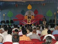 Dhammakranti pandal meditators