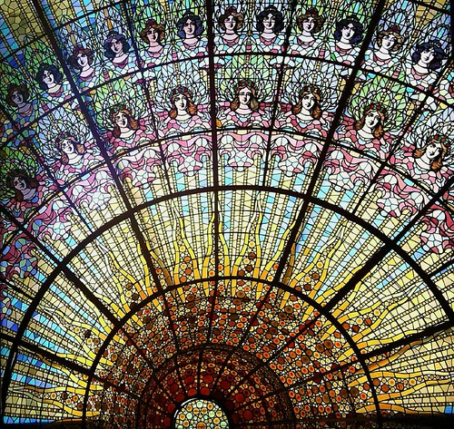 Palau de la musica catalana stained-glass