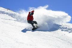 Playing around - Ralf (markkku1980) Tags: trip travel vacation sky holiday snow travelling snowboarding spain skiing nieve roadtrip surfing spray espana ralf snowboard sierranevada slope markkku