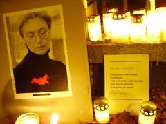 Anna Politkovskaja candle vigil 1
