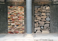 Kounellis in Sarajevo: artistic project in Vijenica / National Library (.chourmo.) Tags: art war stones sarajevo bosnia books yugoslavia nationallibrary vijenica kounellis