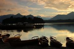 Resting (~Glen B~) Tags: uk england lake water reflections dark boats bravo nikond70 britain dusk district peaceful cumbria derwentwater resting deserted tranquil tamron28300mm bbok empt satelliteportfolio redbubble:id=3033561resting