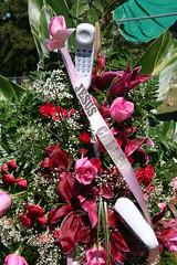 Jesus Called (G. J. Charlet III) Tags: flowers cemetery louisiana phone funeral burial