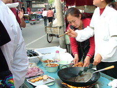 Street food at Houhai (Jian Ailin ) Tags: china street family beijing   streetfood chinesecooking beijingstreet
