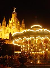 Tibidabo at Night (Omar Corrales) Tags: barcelona tibidabo canoneosdigitalrebelxti canoneos400ddigital omarcorrales