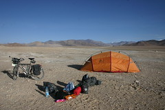 Morning camp in the middle of Nowhere....Aksay Chin Plateau, 4800m