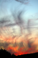 Sky on Fire. (BamaWester) Tags: sunset red sky nature clouds sundown alabama wispy skyonfire crazysky bamawester outstandingshots specland napg specsky abigfave
