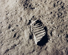 Released to Public: Apollo 11 Bootprint on the Moon (NASA GPN-2001-000014 )