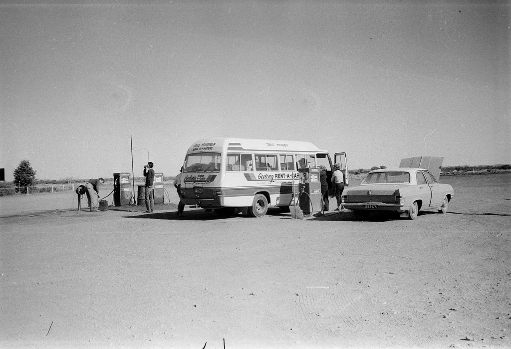 Getting Diesel for the Bus, RAOU North West Australian Wader Expedition, 1982