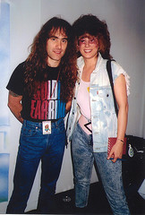 Me and Steve Harris of Ironmaiden
