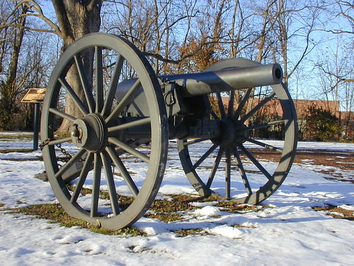 Artillery on Carter House grounds