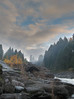Nanaimo River Rapid (Mike Bingley) Tags: autumn trees sky canada colour tree fall nature water clouds river skies moody bc britishcolumbia foggy atmosphere 2006 nanaimo vancouverisland personalfaves