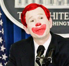 The Emperor's New Face (unknownkarmic) Tags: bush election clown georgewbush makeup victory republican elections defeat ronaldmcdonald presidentbush pressconference rodeoclown thumpin clownmakeup midtermelections midtermelection kathrineharris