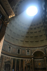 Light Streaming in From the Oculus of the Pantheon (IceNineJon) Tags: travel light italy rome europe pantheon angels oculus demons lightray angelsdemons