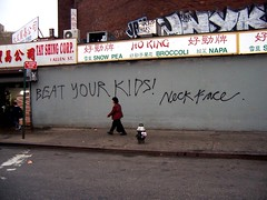 beat your kids! neckface by spinachdip, on Flickr