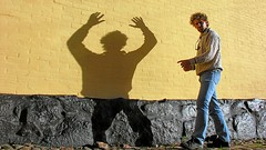 Shadow Play ([martin]) Tags: shadow portrait selfportrait male me composite shoot martin experiment twin manipulation double multiplicity clone cloned luckyluke martinbiskoping