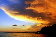 Sunset at the Rio Negro (manganite) Tags: blue sunset brazil sky orange sun film southamerica nature topf25 colors brasil tag3 taggedout clouds analog america reflections river geotagged topf50 colorful afternoon minolta tl dusk horizon silhouettes onecolor manaus amazonas rionegro peopleschoice 7000 august2000 utatafeature manganite cy2 challengeyou challengeyouwinner thecolororange geo:lat=3063505618723391 geo:lon=6010894116838792 superhearts date:year=2000 date:month=august