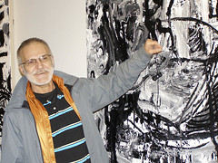gregory4 (Tim Noonan) Tags: blackandwhite art painting acrylic manipulation opening november9 lonsdalegallery sheilagregory sugarbee awardtree