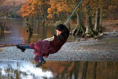 weee :D (volantra) Tags: november rope swing loch lomand