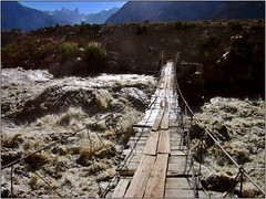 Troubled bridge over troubled waters (Ahmad A Karim) Tags: las pakistan k2 karakoram northernareas lums summer2006 karakorams baltoro theadventuringelf