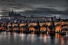 Charles Bridge, Vltava and Hradcany, Prague (Stevacek) Tags: bridge castle night geotagged bravo czech prague prag praha most czechrepublic charlesbridge hdr hrad hradcany noc karluvmost tthdr abigfave p1f1 stevacek geo:lat=5008650976085087 geo:lon=1441119707677343