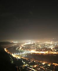 Trier Nachts (schusta) Tags: nebel tag duster dunkel lichter nachts langzeitbelichtung