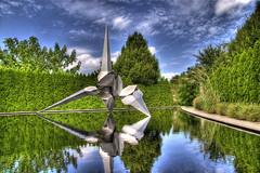 Dorion by Bruce Beasley (Kaldoon) Tags: trees sculpture newjersey pond nj sculpturegarden hdr dorion groundsforsculpture hamiltonnj brucebeasley hamiltontownship kaldoon