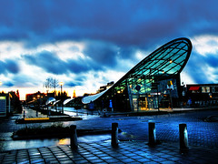 Metro Station Thunder Rain (PeeTNeeT) Tags: blue light holland netherlands rain canon lowlight afternoon metro schiedam g7 parkweg peetneet canong7
