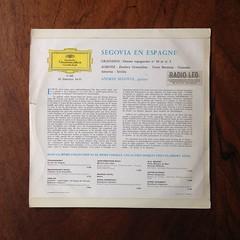 Backside Segovia en Espagne: Granados - Danses Espagnoles No.5, 10 & Albeniz - Zambra Granadina, Torre Bermeja, Granada, Asturias, Sevilla - Andres Segovia Guitare Guitar, DGG 17 266, 10 inch, 1964 (Piano Piano!) Tags: segoviaenespagnegranadosdansesespagnolesno5 10albenizzambragranadina torrebermeja granada asturias sevillaandressegoviaguitareguitar dgg17266 10inch 1964
