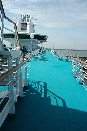 Top Deck On The Cruise Ship
